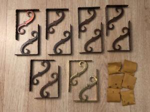 12 VTG Ferum Hammered Iron Ornamental Bracket 6x4.5 Copper / Gold Finish