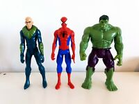 "Marvel Spiderman, Hulk & Vulture 12"" Action Figure Bundle Hasbro Titan Hero"