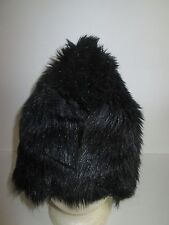 Custom Made BLACK Faux Fur COSSACK HAT Costume Lined Russian CAP Winter