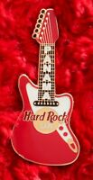 Hard Rock Cafe Pin PANAMA Fender Guitar (Red and White) hat lapel logo