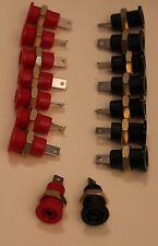 LOT DE 16 EMBASES BANANES 4mm ISOLEES