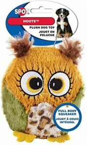 """Spot Ethical 3"""" Plush Owl Hoots Hoot small Dog Toy Play Toss Fetch squeaker ylw"""