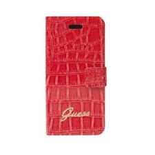 Etui folio book guess motif croco corail rouge pour iphone 4 / 4s