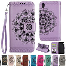 Mandala Stand Card Wallet Leather Flip Case Cover For Sony L1 XA XA1 Ultra XZ Z5
