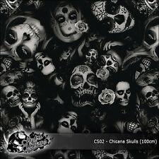 1m of Chicana Skulls (CS02) 100cm hydrographics water transfer film