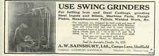 1926 A W Sainsbury Campo Lane Sheffield Swing Grinders Old Advert