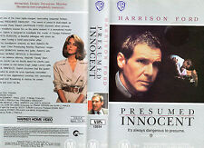 PRESUMED INNOCENT - Harrison Ford - VHS - NEW - PAL - Original Oz release -Rare!