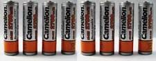 8 Pcs Camelion AA Rechargeable 2700mAh 1.2V Ni-MH Batteries