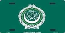Aluminum National Flag League Arab States License Plate