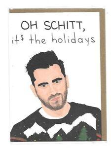 Schitt's Creek Oh Schitt, It$ The Holidays Holiday Card NEW