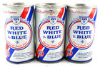 Qty. 3 Pabst Red White Blue Beer Can Steel Top & Bottom Opened Free Shipping