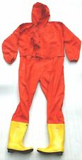 NOS RFH-1 ANTI CHEMICAL OVERALL PERSONAL PROTECTION SPILL SAFETY SUIT HAZMAT