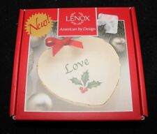 "Lenox China Sentiment Heart Pin Dish Gold Rim Love 4"" New Christmas Holiday"