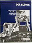 1980 Caterpillar D9L Bulletin Sales Folder