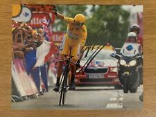 Bradley Wiggins Hand Signed 10x8 Tour De France Yellow Jersey Cycling Photo 2