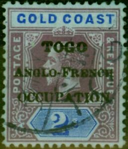 Togo 1916 2s Purple & Blue-Blue SGH54 Fine Used Stamp