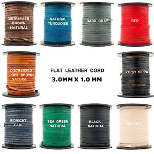 Genuine Flat Leather String Black Leather Strip Jewelry Leather String Cord  2m S 40 146 5mm Black Flat Leather Cord