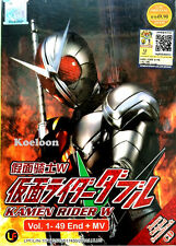 DVD Anime Masked Kamen Rider W Complete Series VOL 1-49 +MV CD Ship FREE Eng Sub
