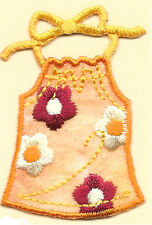 Summer Top - Craft Embellishment - Embroidered Iron On Applique Patch