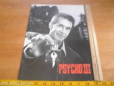 Psycho III Anthony Perkins movie premiere viewing program card credits 1986