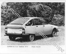 1977 CITROËN GS CLUB PRESSEBILD PRESS FACTORY PICTURE BILD PHOTO ORIGINAL