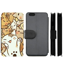 Cute Kitty Kawaii Adorable Wallet Phone Case (For iPhone, Samsung)