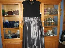 WOMENS DRESS SIZE 12 FORMAL PROM CRUISE EVENING PEWTERCOLOR RUCHED RETAIL$120.00