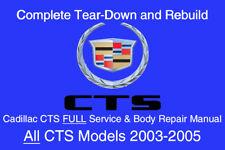Cadillac CTS 2003 - 2005 Service Repair Workshop Manual Maintenance GM DVD-ROM