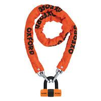 Oxford HD Chain Lock 1.5mtr Orange