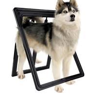 Extra Large 2 Way Lockable Locking Pet Cat Dog Safe Security Flap Door 3Colors