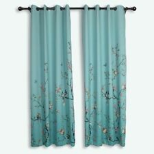 Gradient Birds Butterfly Blackout Curtains Living Room  Drapes Bedroom Window