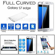 Full Curved Silver Tempered Glass Screen Protection For Samsung Galaxy S7 Egde