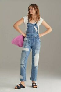 NEW Anthropologie $168 Pilcro The Wanderer Relaxed Denim Overalls Size 29