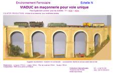 Colinter Productions - maquette N -  Viaduc en maçonnerie pour voie unique