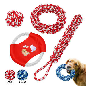 Aggressive Chew Toys for Large Dogs Indestructible Soft Rope Ring Tug Ball Toys