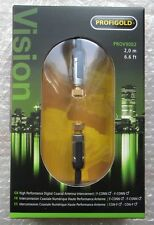PROFIGOLD VISION COAXIAL ANTENNA INTERCONNECT 2,0 M 24 K GOLD DVD NEW