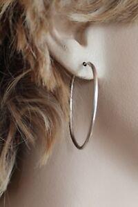 """HAN 925 HOOP EARRINGS 1 3/4 X 1 1/4"""""""