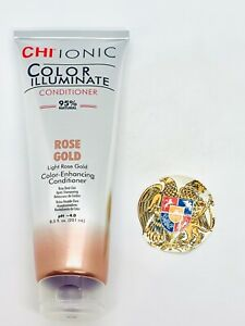 CHI IONIC COLOR ILLUMINATE ROSE GOLD COLOR-ENHANCING CONDITIONER 8.5 OZ