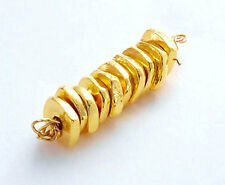 Karen hill tribe 24K Gold  Vermeil Style 10 Free form Disc Beads.