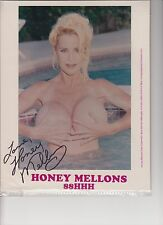 """ADULT MOVIE STAR """"HONEY MELLONS"""" AUTOGRAPHED PHOTOCARD"""