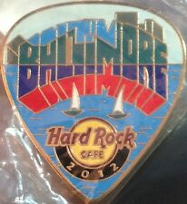Hard Rock Cafe BALTIMORE 2012 POSTCARD Series Guitar Pick PIN Post Card #68028