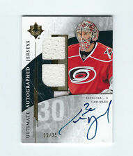 CAM WARD 09-10  ULTIMATE COLLECTION AUTOGRAPHED JERSEY SP #D 25 /25 AUTO ON CARD