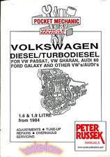 Volkswagen Diesel Shop Manual 1.6 1.9 Engine Service Repair Book Russek Overhaul