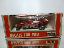 POLISTIL E121 ALFA ROMEO 180 MARLBORO - F1 RED 1:43 - GOOD CONDITION IN BOX