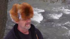 Red fox fur hat * black powder coyote raccoon beaver otter mink ski ladys womens