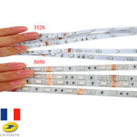 Bande LED 3528 5050 SMD DC12V bande de lumière non-étanche Fexible bande ruban
