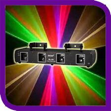 4Lens 560mW 4Colors RGYB DJ Laser Light DMX 7CH Disco Stage Party Lighting DL55C