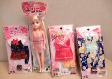Daiso Ellie chan Doll 3 Fashion School Uniform, Kimono, Cheerleader Licca-Clone