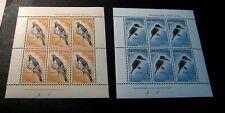 Souvenir Sheet New Zealand Stamp Scott# B59a,B60a Kingfisher 1960 MH  C505