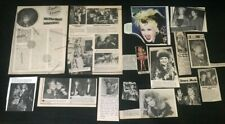 Cyndi Lauper COLLECTION of MAGAZINE CLIPPINGS 80's pop music